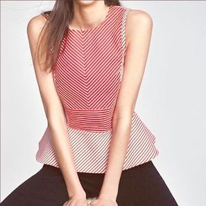 Maeve Anthropologie Red & White Stripe Top